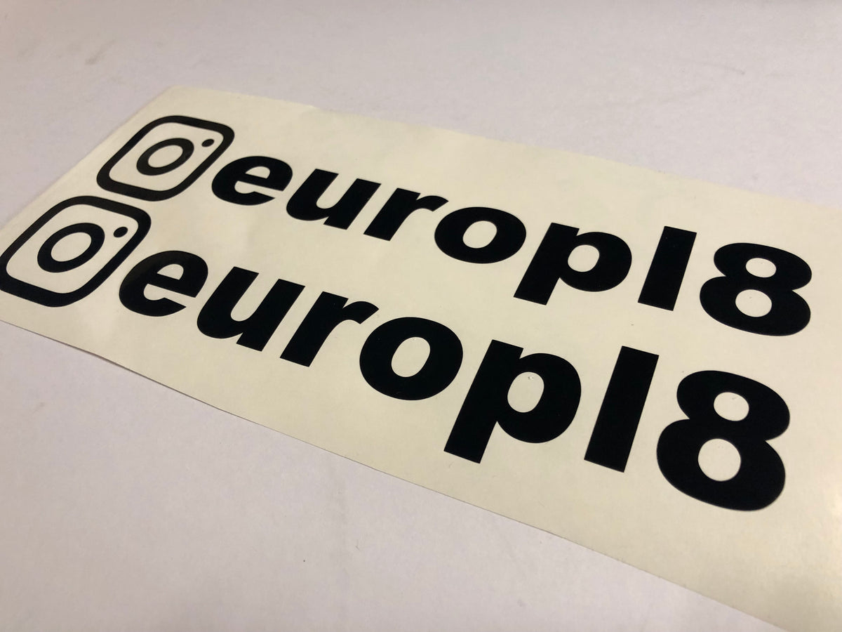 Vinyl instagram name stickers size large europl8