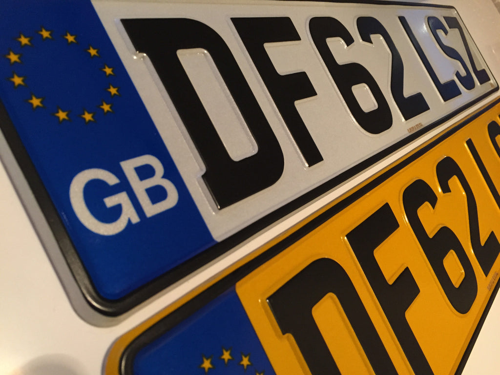 GB Road Legal Pressed Number Plate PAIR – Europl8