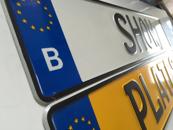 Belgium Style European Number Plate SINGLE
