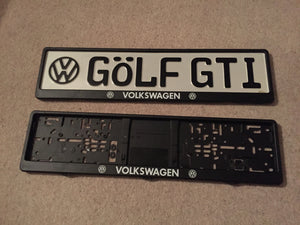 Volkswagen Number Plate Surround Frames