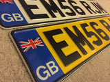 England Flag English Road Legal Pressed Plates UNION JACK