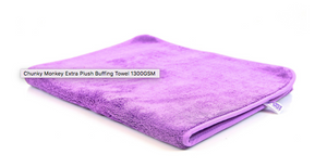Autobrite Chunky Monkey Plush buffing Towel 1300gsm