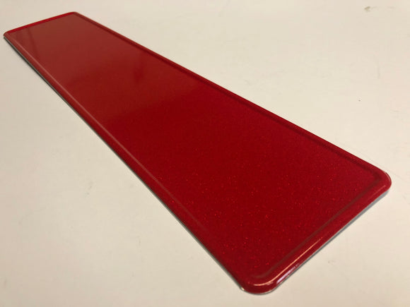 Glitter Red Coloured Show Plate SINGLE