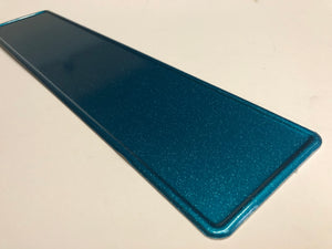 Glitter Turquoise (Green/ Blue) Coloured Show Plate SINGLE