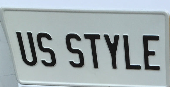 White USA Style Pressed Plate