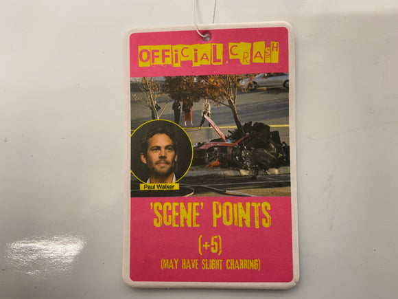 Paul Walker Crash Obscene Air Freshener