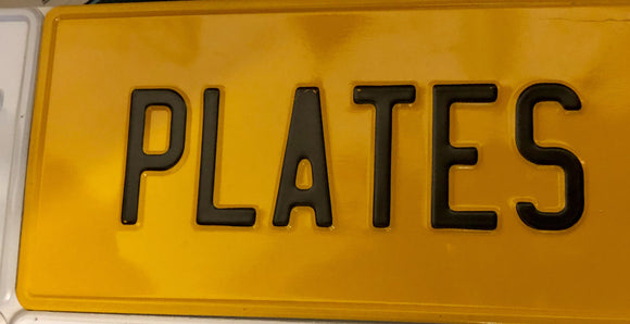 Yellow USA Style Pressed Plate