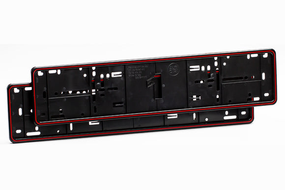 Alti Giri Premium Number Plate Surround Frames Red