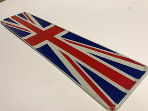 Union Jack Coloured Show Plate SINGLE