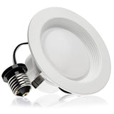 LED 13W = 75W 4 Inch. Baffle Round Retrofit Recessed Downlight UL & Energy Star Certified - LED Light Club