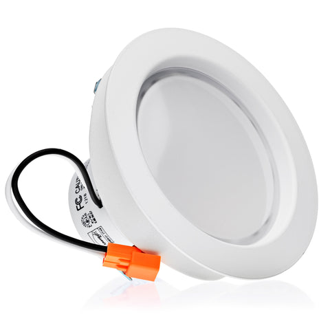 LED 9W = 95W 4 Inch. Smooth Round Retrofit Downlight UL & Energy Star Certified - LED Light Club