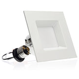 4-inch LED Square Downlight LED Trim, 10W, 700Lm, Dimmable - LED Light Club