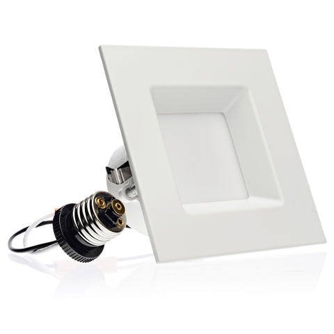LED 10W = 60W 4 Inch. Square Retrofit Downlight UL & Energy Star Certified - LED Light Club