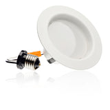 4-inch Smooth LED Downlight Trim, 10.5W, 700 Lm, Dimmable - LED Light Club