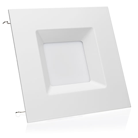 6-inch LED Square Downlight LED Trim, 15W, 1100Lm, Dimmable - LED Light Club