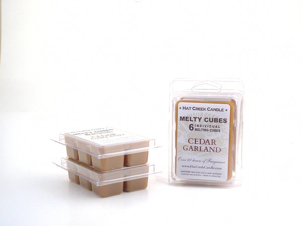 Melty Cube Scented Wax Melts 2pk: Cedar Garland