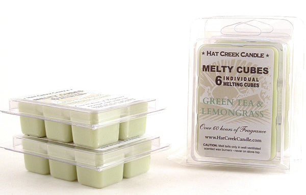 Melty Cube Scented Wax Melts 2pk: Green Tea & Lemongrass