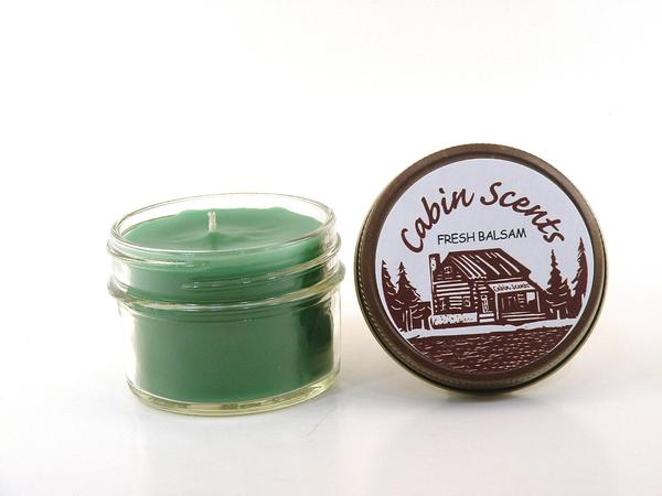 Cabin Scents 4oz Mini Mason Jar Candle: Fresh Balsam