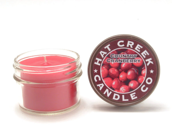 4oz Mini Mason Jar Candle: Country Cranberry