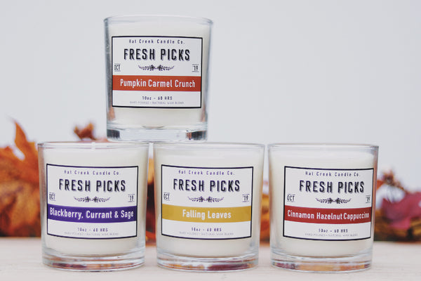 10oz October Fresh Picks: Collection of 4 Candles