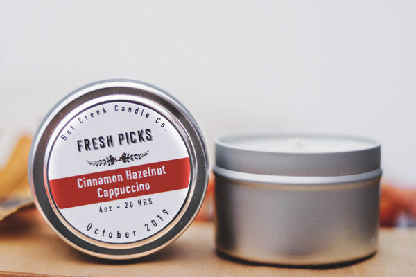 Travel Tin October Fresh Picks: Cinnamon Cappuccino Hazelnut