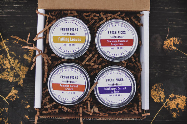 October Fresh Picks: Collection of 4 Travel Tins