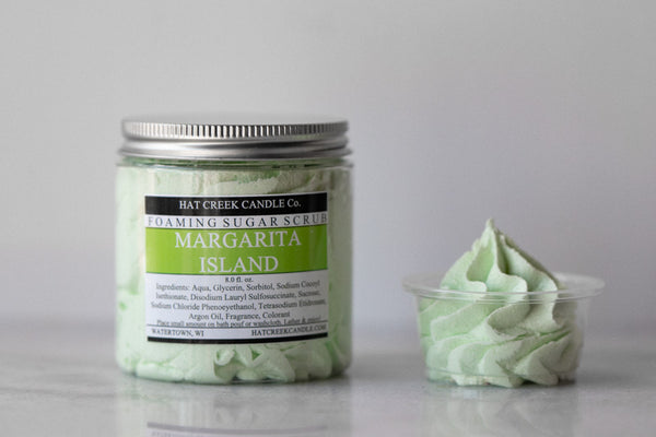 8oz Foaming Sugar Scrub: Margarita Island - LIMITED EDITION!