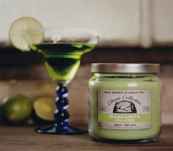 16oz Scented Jar Candle: Margarita Island