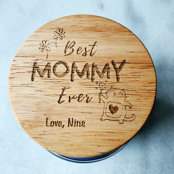16oz Personalized Scented Jar Candle: BEST Mommy EVER