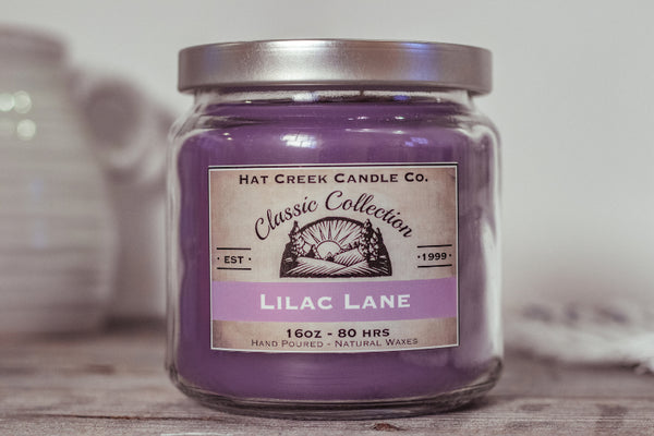 16oz Scented Jar Candle: Lilac Lane - LIMITED Seasonal!