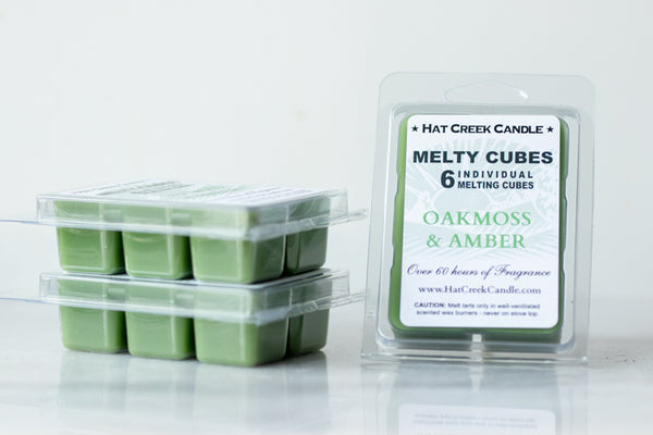 Melty Cube Scented Wax Melts 2pk: Oakmoss & Amber
