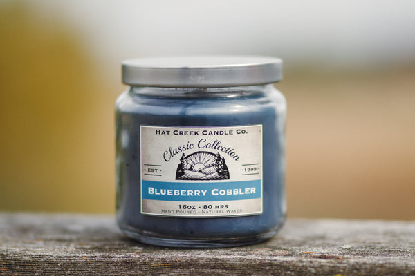16oz Scented Jar Candle: Blueberry Cobbler - NEW!