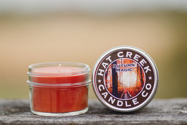 4oz Mini Mason Jar Candle: Autumn Magic