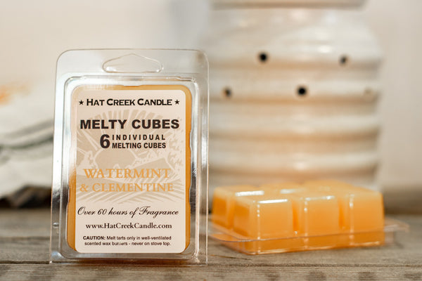Melty Cube Scented Wax Melts 2pk: Watermint & Clementine