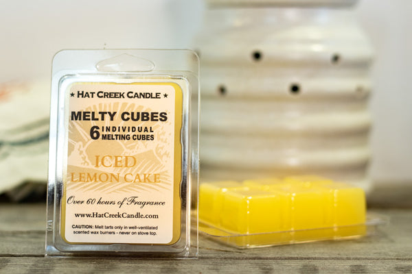 Melty Cube Scented Wax Melts 2pk: Iced Lemon Cake