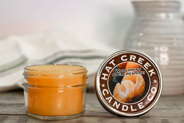 4oz Mini Mason Jar Candle: Watermint & Clementine