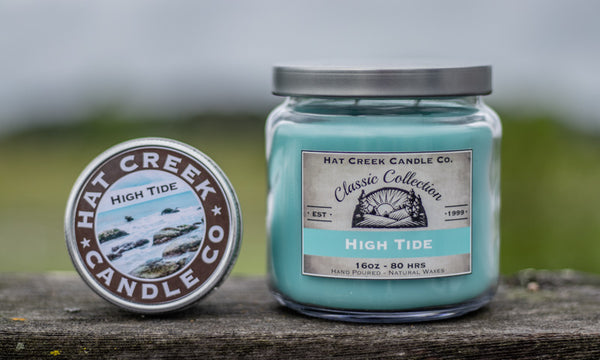 16oz Scented Jar Candle: High Tide