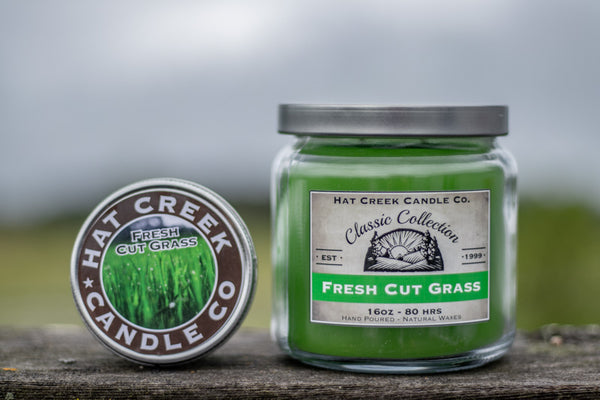 16oz Scented Jar Candle: Fresh Cut Grass (NEW!)