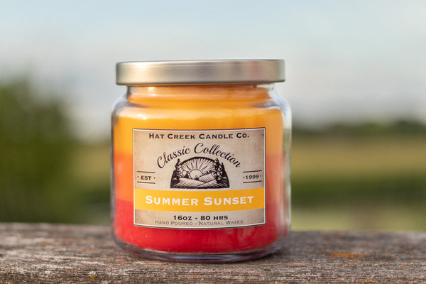16oz Scented Jar Candle: Summer Sunset - LIMITED TIME!
