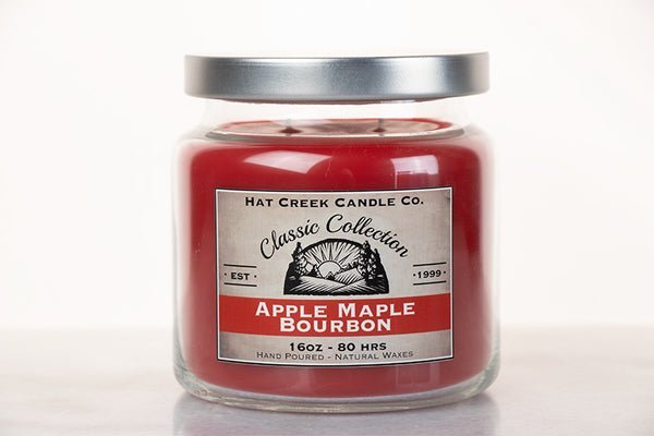 16oz Scented Jar Candle: Apple Maple Bourbon