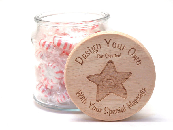 16oz Personalized Candy Jar: Design Your Own!