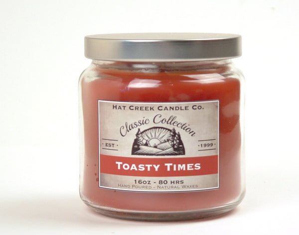 16oz Scented Jar Candle: Toasty Times - our best-selling cinnamon blend!