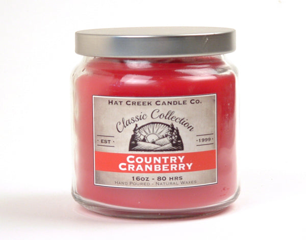 16oz Scented Jar Candle: Country Cranberry
