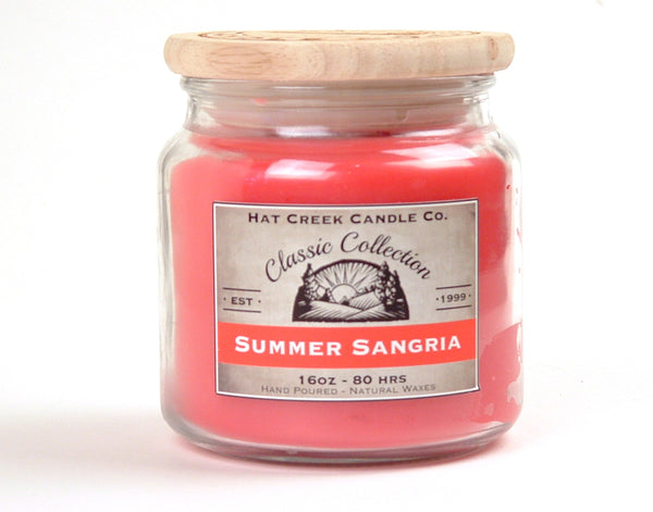 16oz Scented Jar Candle: Sangria Summer