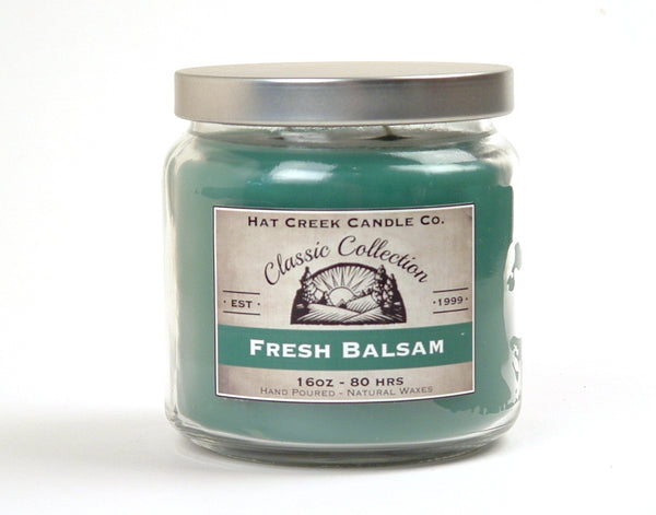 16oz Scented Jar Candle: Fresh Balsam