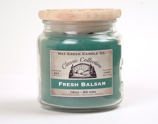 16oz Scented Jar Candle: Fresh Balsam (Northwoods Pine)