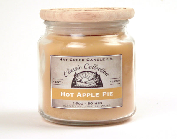 16oz Scented Jar Candle: Hot Apple Pie