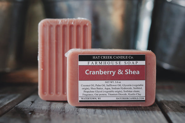 Farmhouse Glycerin Soap:  Cranberry & Shea