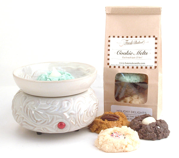 Cookie Melt Scented Wax Melts: Holiday Delights and Electric Scroll Warmer Combo