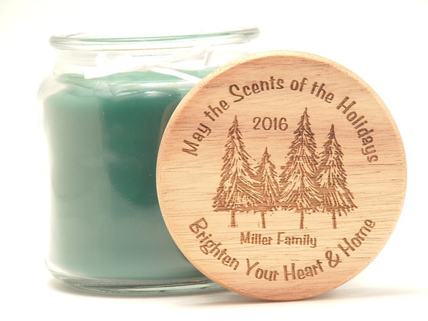 16oz Personalized Scented Jar Candle: Brighten Your Home